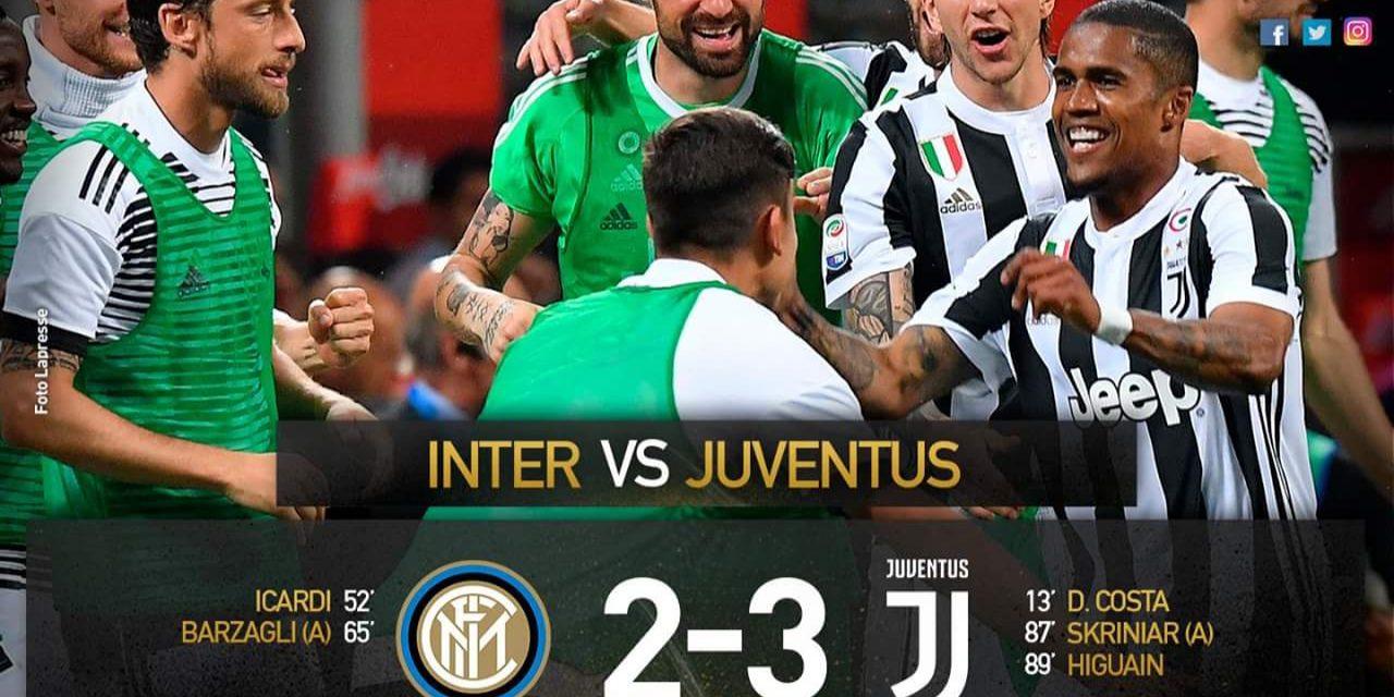 Vince la Juventus in rimonta. Domani l'Italia bianconera tiferà Fiorentina per festeggiare lo scudetto