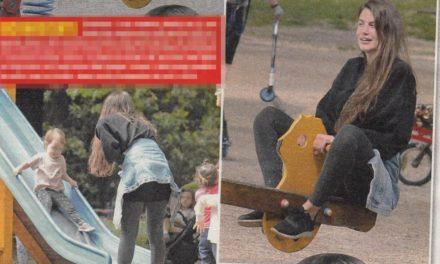 Francesca Fioretti torna a sorridere con la piccola Vittoria in un parco milanese