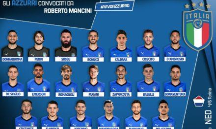 I convocati di Mancini per l'Italia, c'è Chiesa. Fuori De Rossi, dentro Balotelli