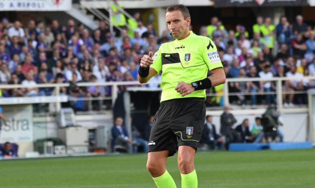 Mazzoleni paga cari gli errori di San Siro, stop di un turno per l'arbitro di Inter-Fiorentina