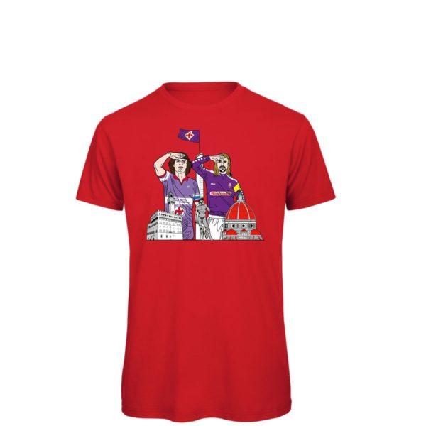 Saluto al Capitano: Batistuta - Antognoni - T-shirt rossa.