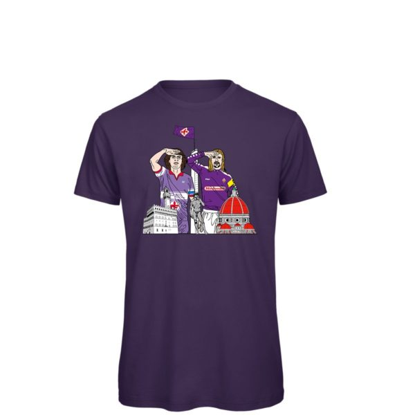 Saluto al Capitano: Batistuta - Antognoni - T-shirt viola