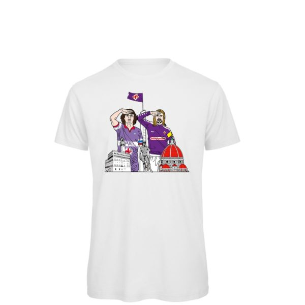 Saluto al Capitano: Batistuta - Antognoni - T-shirt bianca