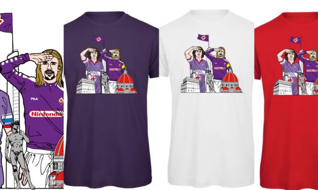 Il saluto al capitano di Antognoni e Batistuta, ecco la maglia dei tifosi viola
