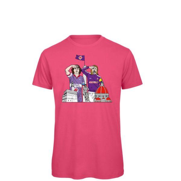 Saluto al Capitano: Batistuta - Antognoni - T-shirt rosa