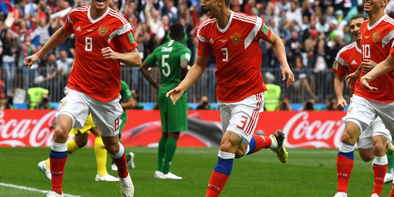Russia 2018: la Russia parte col botto, Arabia Saudita asfaltata (5-0) all'esordio
