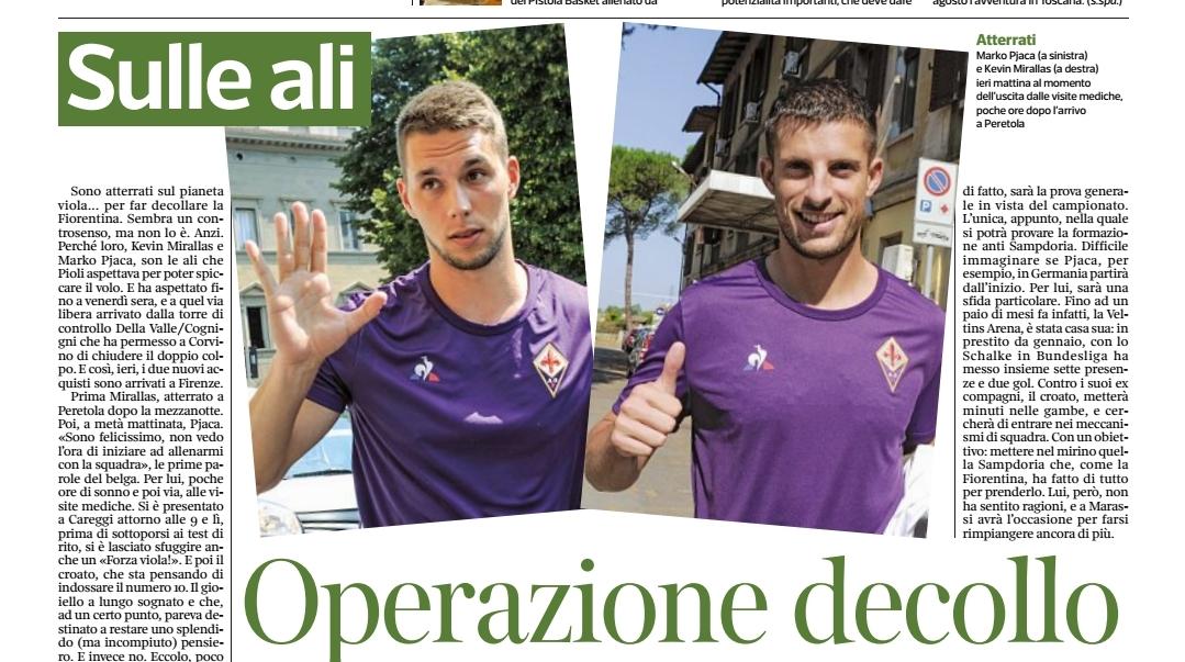 Pjaca+Mirallas, la Fiorentina vuole volare. Ecco il piano di recupero fisico per il croato