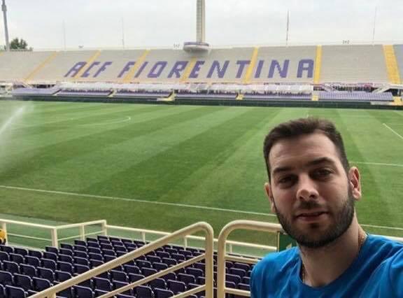 (FOTO): lo scatto di Luciano De Cecco al Franchi. Il pallavvolista è a Firenze per i Mondiali 2018