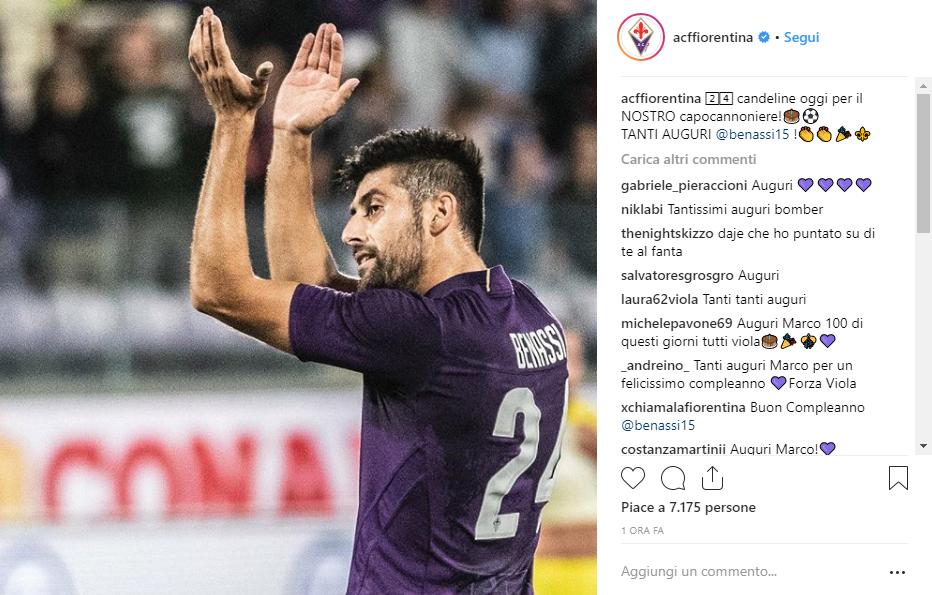 Fiorentina Tanti Auguri Al Nostro Capocannoniere Auguri
