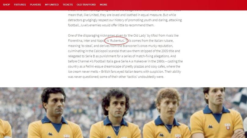 """Il Manchester United scrive sul sito ufficiale: """"Giochiamo contro la Rubentus"""". La Fiorentina…"""