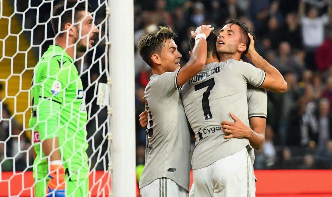 Udinese-Juventus 0-2 decidono i gol di Bentancur e Ronaldo