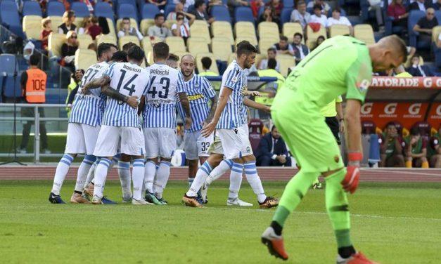 La Spal fa un grande favore alla Fiorentina. Batte in dieci la Roma, all'Olimpico è 0-2