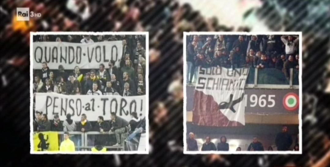 VIDEO, È stata la Juventus a far entrare allo Stadium gli striscioni contro Superga e il Torino