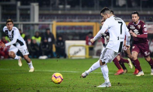 CRigore7 e la Juventus batte il Torino per 0-1, bianconeri al comando in Serie A