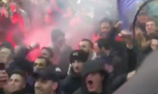 (VIDEO) Il Franchi è già una bolgia, la calorosa accoglienza dei tifosi all'arrivo del pullman