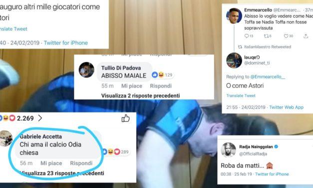 Frustrazione Inter, insultato Chiesa senza motivo, oltraggiato Astori. Offesa la Fiorentina