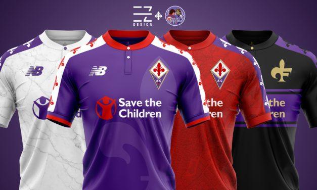 Se la nuova maglia della Fiorentina fosse cosi? Via Le Coq Sportif. Ecco quattro proposte