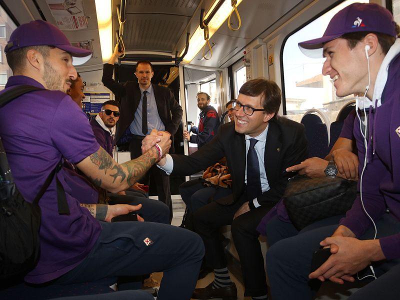 """Grassi: """"Fiorentina in tram una scena ridicola. Alcune persone sono dovute scendere per loro.."""""""