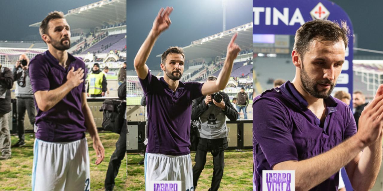 FOTO, Badelj a fine partita va sotto la Fiesole, saluto ai tifosi viola e gesto per Astori