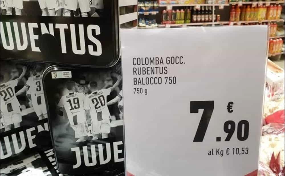 """Goliardata ad un supermercato. Scrive """"Rubentus"""" invece di Juventus. Commesso nei guai"""