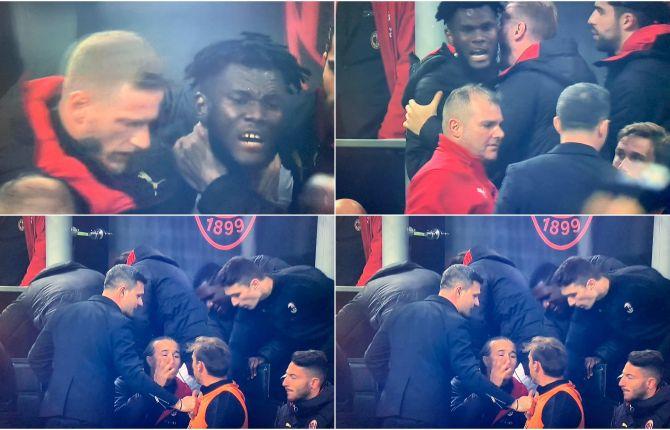 Rissa sfiorata in panchina del Milan durante il derby. Kessiè vuole picchiare Biglia, lo fermano i compagni