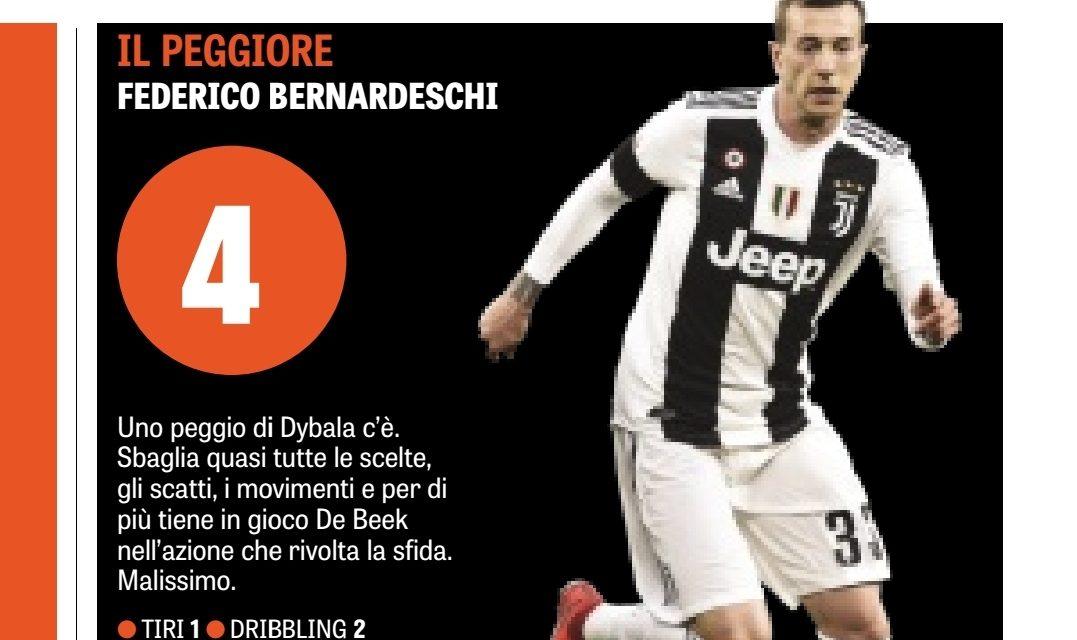 Figuraccia Bernardeschi in Champions contro l'Ajax, il suo disastro è sotto gli occhi di tutti e la Gazzetta…