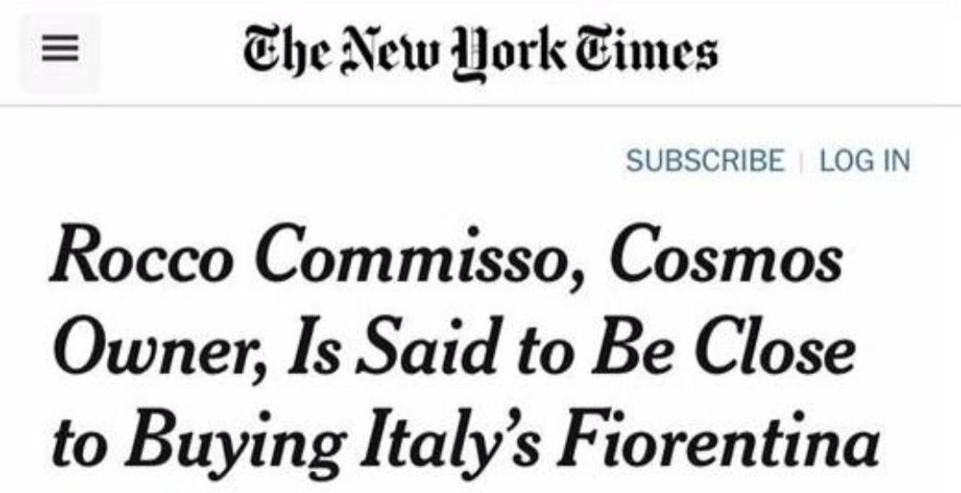 Clamoroso: il miliardario Rocco Commisso sul punto di acquistare un club italiano