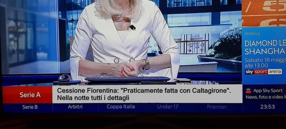 Hackerato Sky Sport 24 dai tifosi viola. E la Fiorentina viene venduta a Mark Caltagirone FOTO