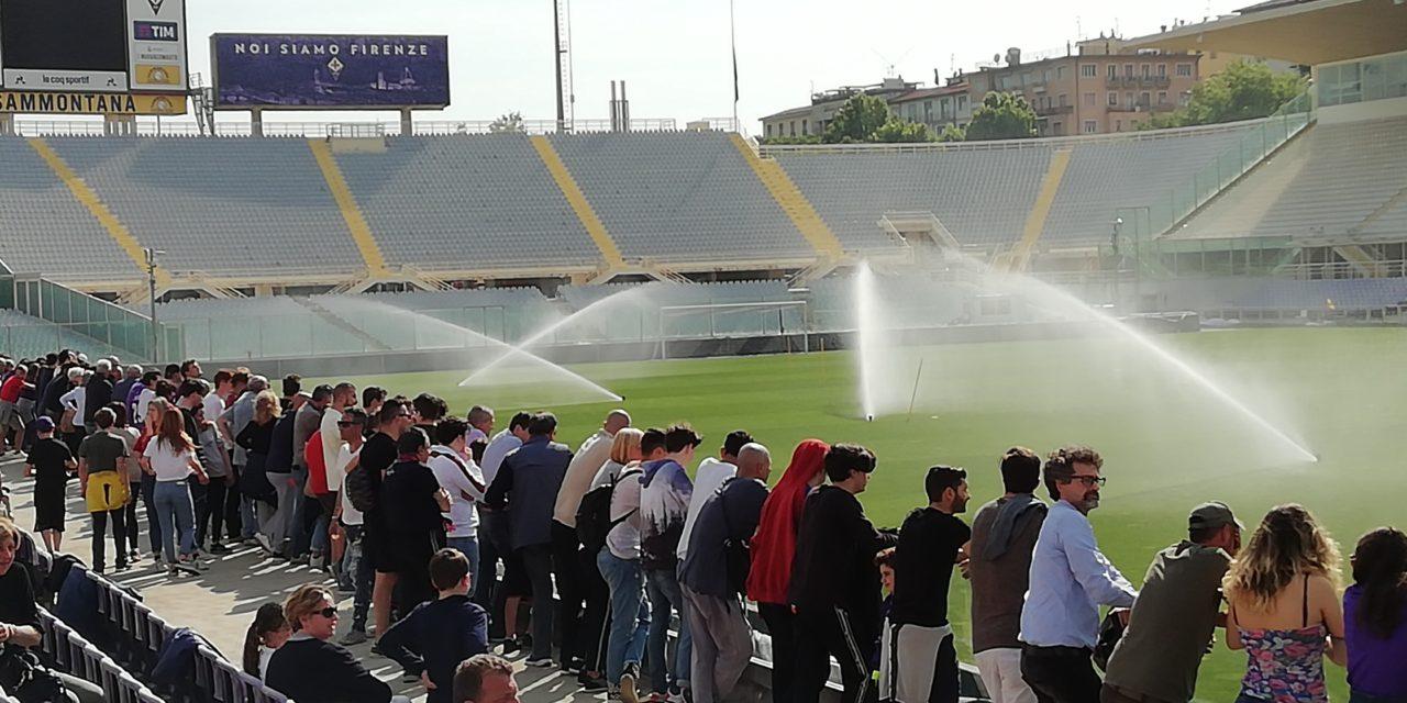 (FOTO): ALLENAMENTO A PORTE APERTE PRESENTI 1000 TIFOSI E ANDREA DELLA VALLE-CORVINO