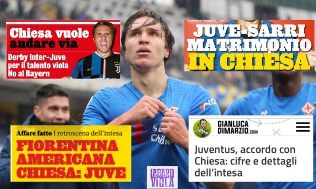 Gazzetta e Di Marzio danno Chiesa alla Juventus? La verità (per adesso) è un'altra. I retroscena