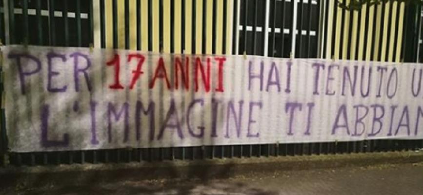 """(FOTO) Striscione offensivo contro i DV appeso al Franchi: """"Dopo 17 anni di menzogne adesso…"""""""