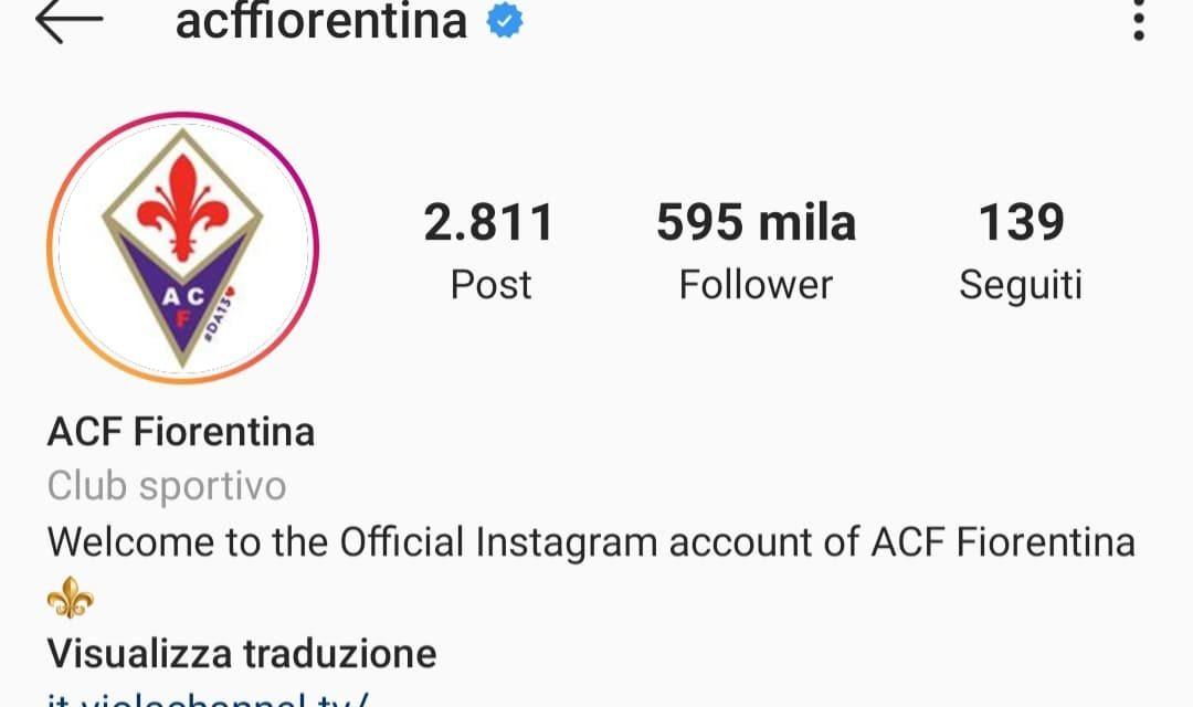 Fiorentina, molto bene sui social, è la sesta squadra più seguita su Instagram