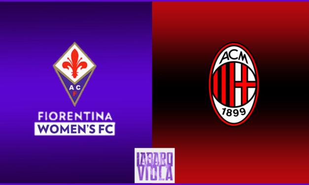 Contro il Milan capolista, le nostre ragazze cercheranno di riscattarsi dopo il ko subito in Supercoppa contro la Juventus