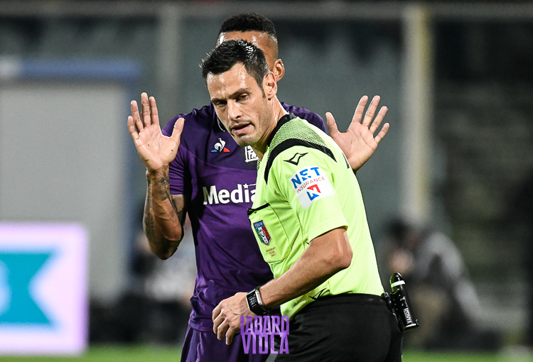 Fiorentina-Atalanta sabato alle 15 sarà arbitrata da Mariani. Al Var ci sarà Nasca
