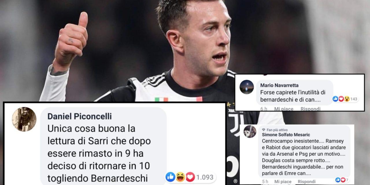 Juventus, le reazioni dei calciatori dopo la sconfitta contro la Lazio