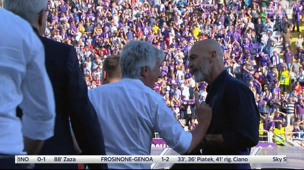 Tifosi della Fiorentina maleducati? Ecco quando Gasperini spinse Pioli dopo la sconfitta a Firenze. VIDEO