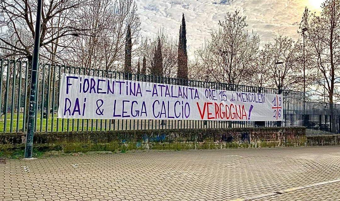 """La Curva Fiesole grida: """"Fiorentina-Atalanta si gioca di mercoledì alle 15, vergogna!"""""""