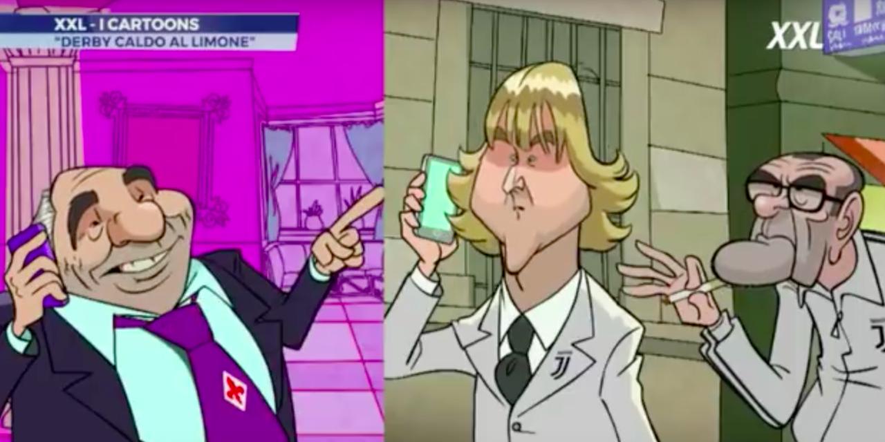 VIDEO, il simpatico cartoon di SportMediaset della lite tra Commisso e Nedved… a base di tè