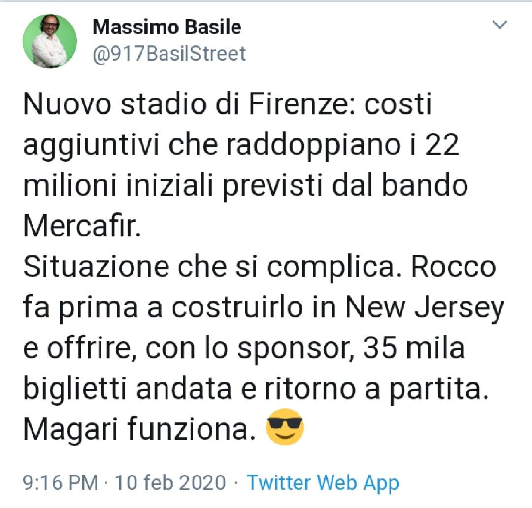 Nuovo stadio, Fiorentina:
