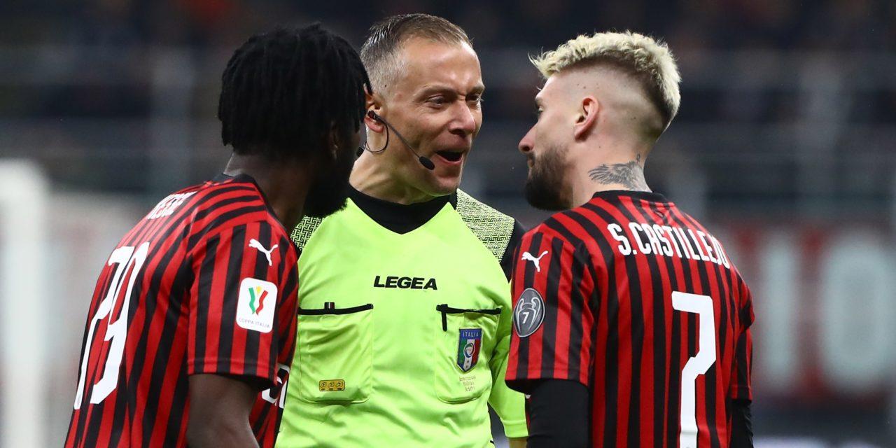 La Juve raggiunge il Milan al 91′ con un rigore, i milanisti sono furiosi. Il racconto