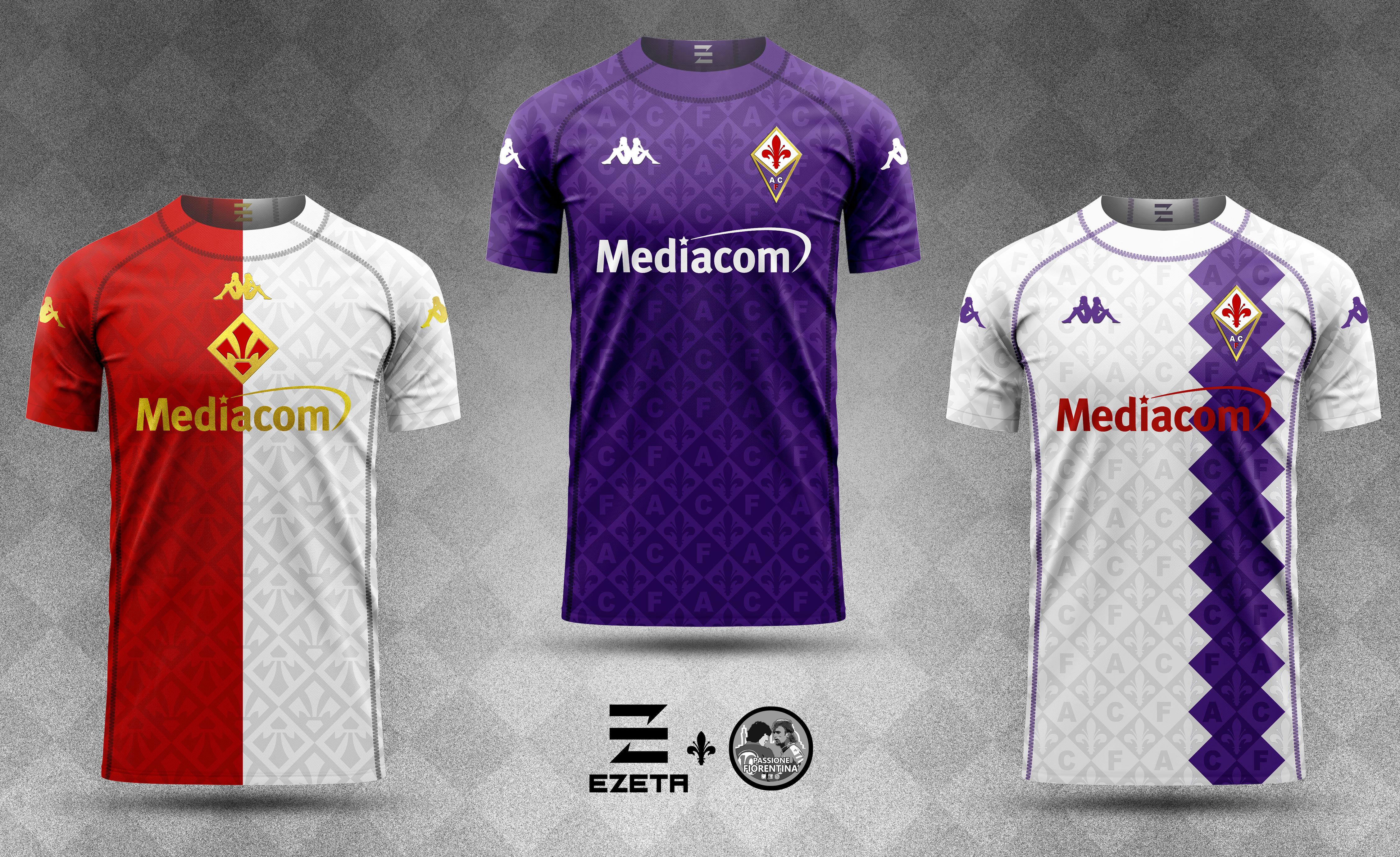 La Fiorentina vestirà Kappa, tre proposte sulla nuova maglia ...