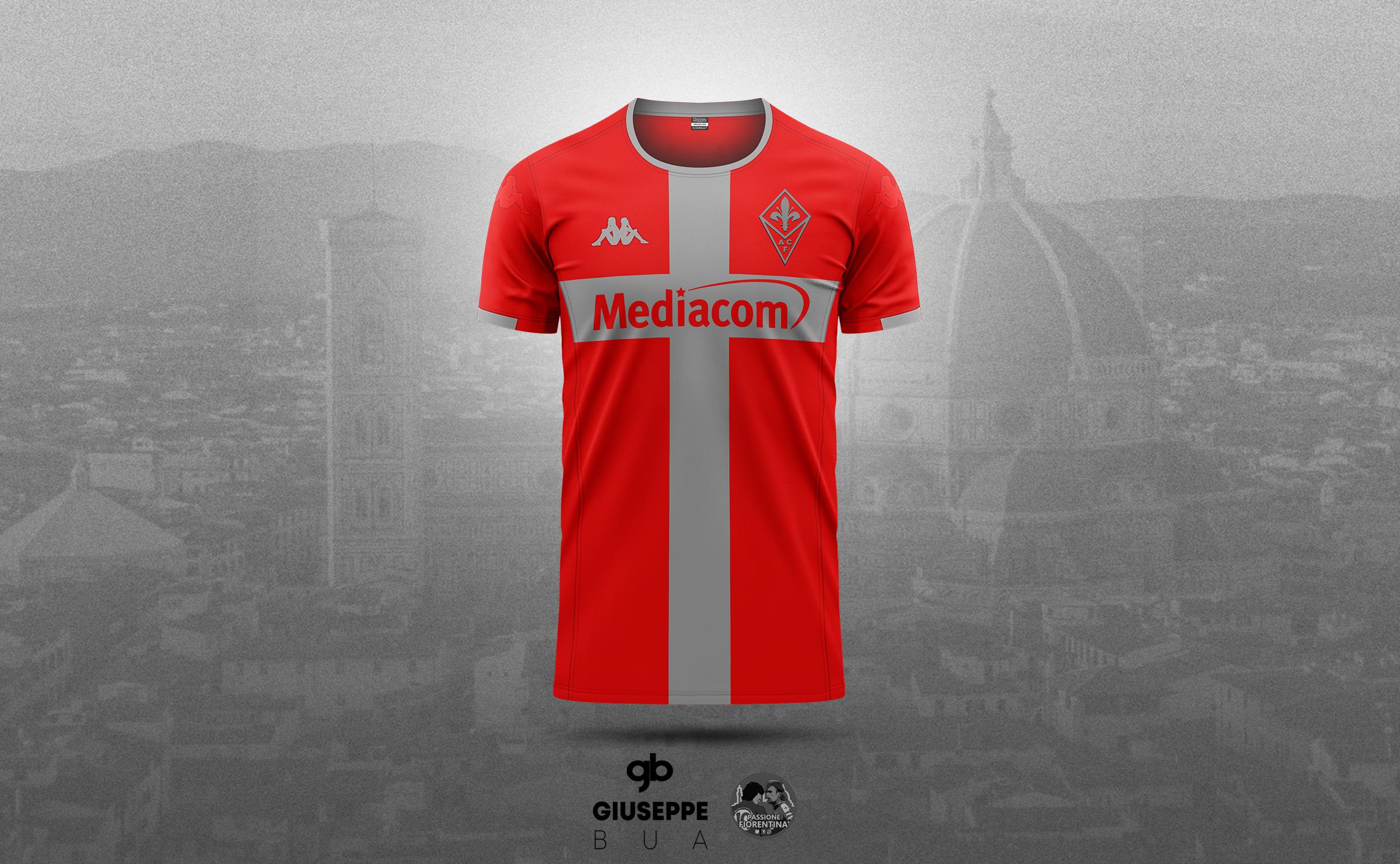 La terza maglia della Fiorentina? Rossa con la croce grigia in ...